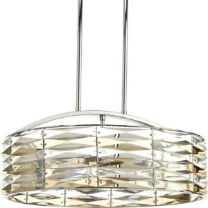 Progress Lighting Pointe Chandelier Polished Chrome Champagne and Clear Glass