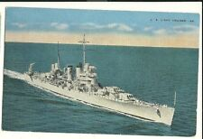 US Light Cruiser Military Ship  postcard