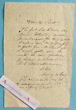 ♦ L.A.S Henry de KOCK écrivain & chansonnier - Privat - Saint Cloud - lettre