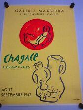 Affiche Céramiques CHAGALL; Galerie MADOURA, 1962; Imp Mourlot, Graveur Sorlier