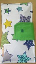 Windeltasche, Pamperstasche, Wickeltasche- Motiv Sterne grün/blau