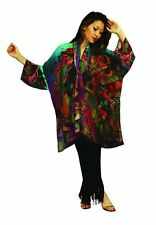 Kandinsky Artist Inspired Hand Painted Silk Jacket Set  NWT OS Plus Size 108