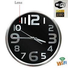 1080P WIFI Spy Hidden Camera Wall Hanging Clock Video recorder Motion Detection
