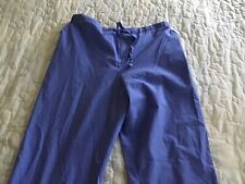 Lefrang Scrub Bottoms Size Medium Side Pockets Elastic Back Euc