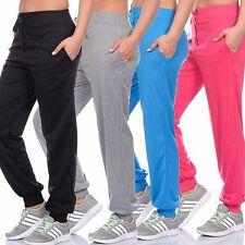 NEU Damen Stretch Sporthose Fitnesshose Laufhose Stoffhose Farbwahl Gr. 36-44