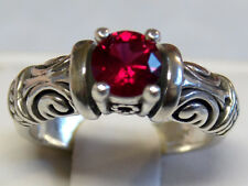 1CT RED RUBY RING SIZE 6 ANTIQUE 925 STERLING SILVER VINTAGE STYLE USA MADE