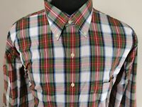 Jos A Bank Mens Long Sleeve Button Down Shirt Size L Large Plaid