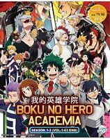 Boku No Hero Academia Season 1-3 Eps.1 - 63 end with English Dub Ship From USA