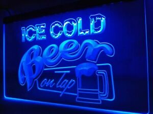 Ice Cold Beer LED Neon Light Sign Bar Club Pub Advertise Decor Sport Gift