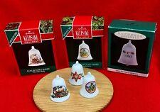 Hallmark Christmas Ornament Thimble Bells Lot Of 3 #1 in Series 1990 1992 1993