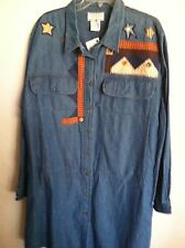 NWT..VENEZIA..XXL.denim..BLOUSE/JACKET..DENIM WITH APLICATE.. BLUES..COMFORTABLE