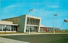 Indiana Toll Road~Glass House Restaurant~1956 Postcard