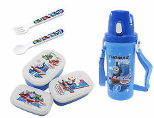 Various Thomas Lunch Products - 3 Lunch (Bento) Boxes, Thermos, Spoon and Fork