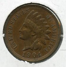 1904 Indian Head Cent, 1C Penny US Coin Almost Uncirculated condition  RA0064