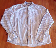 "Mens Fat Face Long Sleeve Grey Stripe Shirt Medium M PIT TO PIT 22"" - VGC"