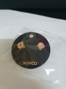 BNWT MIMCO BUTTON UP STUD RRP 40 ROSE GOLD - Express