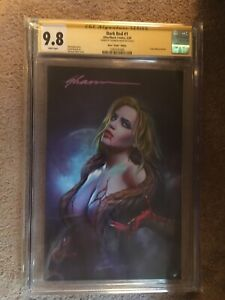 Dark Red #1 Comic Mint Virgin Variant CGC 9.8 SS Signed by Shannon Maer!