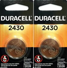 2 Pcs Duracell 2430 CR2430 DL2430 3V Lithium Coin Cell Battery