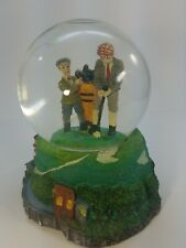 """Vintage Golf Player & Caddy Water Globe Dome By World Bazaars Inc. No Music 6"""""""