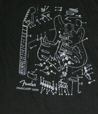 fender strat drawing large short sleeve shirt L  size fender guitar shirt large