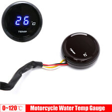 Blue LED Digital Round Water Temp Gauge Meter Thermometer for Motorcycle Bike
