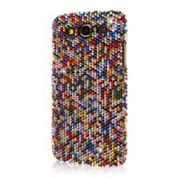 GLITZ Case + Screen Protector for Samsung Galaxy Mega 5.8 - Multi Color Bling