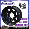 16X8 Sunraysia 6 Stud Black Thunder Steel Wheel Rim. 6/139.7 PCD 0 Offset