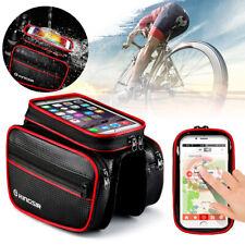 """Borsa Da Bici Bicicletta Per Telaio Bici Impermeabile 6"""" Smartphone Cellulare"""