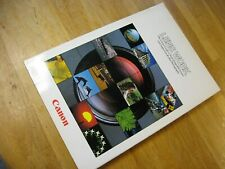 "Genuine Canon ""LENS WORK"" Book for Manual FD Lenses"