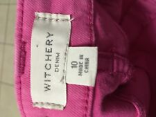 Witchery pink size 10 womens mid rise skinny jeans