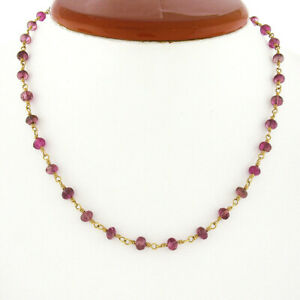 Temple St. Clair 18k Gold Pink Tourmaline Rondel Bead Karina Chain Necklace