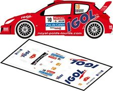 DECALS 1/43 PEUGEOT 206 WRC #10 - KNAPICK - RALLYE DU TOUQUET 2012 - MFZ D43164