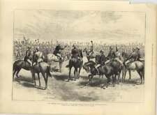 1885 Lord Wolseley despediéndose de la infantería australiana en Sudán