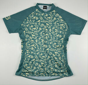Twin Six Cycling Jersey Birds Womens Size Xlarge Green Made in USA