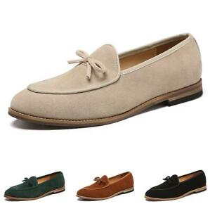 Mens Suede Pointed toe Casual Boat Shoes Slip on Loafer Driving Moccasin Gommino