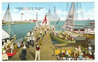 Undated Unused Postcard Fishermans Pier at the Inlet Atlantic City New Jersey NJ