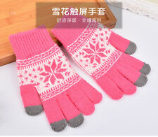 Knitted Wool Winter Women/Men Hand Wrist Warmer Fingerless Touch Screen Gloves