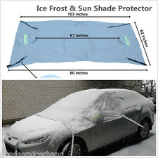 Windshield + Side Rearview Mirror Snow Ice Frost & Sun Shade Protector Car Front