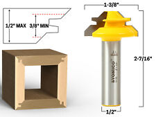 """45 Degree - Up to 1/2"""" Stock Lock Miter Router Bit - 1/2"""" Shank - Yonico 15129"""