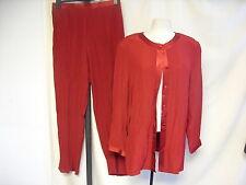 Mesdames veste & pantalon hammels rouge, veste uk 16, pantalon uk 18 à enfiler, 1689