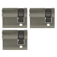 3x Halbzylinder 40mm 30/10 +15 Schlüssel Tür Zylinder Schloss gleichschließend