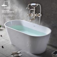 Bathroom Clawfoot Shower Bathtub Combo Faucet Two Handle Wall-Mounted Nickel