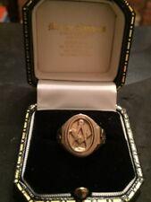 Masonic 9ct gold ring reversible craft size. T