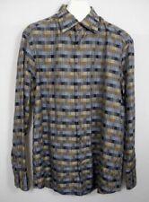 Jhane Barnes Woven Checkered Shirt Button Front Geometric Plaid Weave XL
