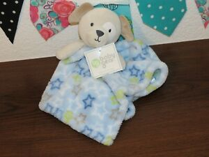NWT Baby Gear Blue Puppy Dog Stars Green BabyGear Lovey Security Blanket Buddy