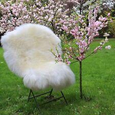 Trasquilado Blanco perla 100-110 cm ecológicamente curtida Merino