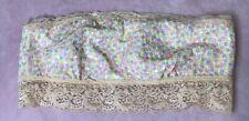 Victoria Secret PINK Bandeau Bralette White And Peach Lace Sequin Sz M
