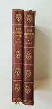 Vintage Les Miserables Vol I & II  Victor Hugo  Nelson & Sons Soft Leather Cove