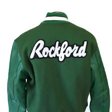 Vintage L Letterman Jacket Green Rockford Rockateers High School Football MN