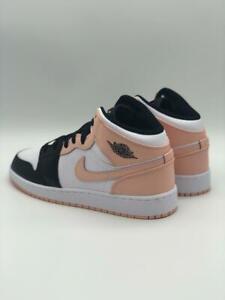 Nike Air Jordan 1 Mid GS Crimson Tint Arctic Pink Rosa Weiß neu & ungetragen